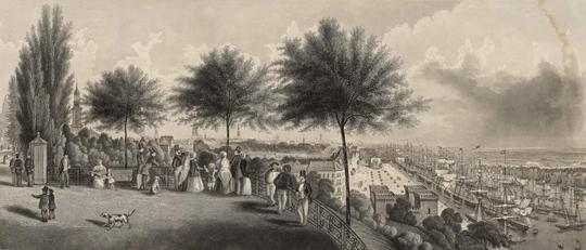 Der Hafen Vom Stintfang Gesehen / Gezeichnet und in Stahl gestochen von James Gray. - Hamburg : Berendsohn, 1857 (Staats- und Universitätsbibliothek Hamburg)