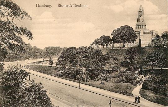 Alter Elbpark aus Südwesten (Postkarte um 1910)
